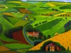 """THE ROAD ACROSS THE WOLDS"" 1997 OIL ON CANVAS 48 X 60"" © DAVID HOCKNEY PHOTO CREDIT: STEVE OLIVER"