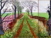 """A CLOSER WINTER TUNNEL, FEBRUARY - MARCH"" 2006 OIL ON 6 CANVASES (36 X48"" EA.) 72 X 144"" OVERALL © DAVID HOCKNEY COLLECTION: ART GALLERY OF NEW SOUTH WALES, SYDNEY PHOTO CREDIT: RICHARD SCHMIDT"