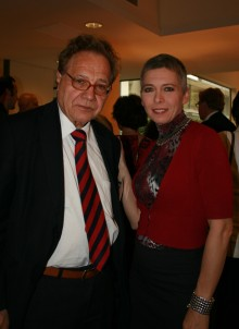Dr. Irene Pivetti (Chairmain of Only Italia) with Prof.Vito Cappellini (Florence University) (c) Promoter srl archive