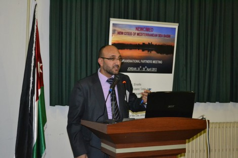 Jihad Haroun (Project Coordinator) at poduim