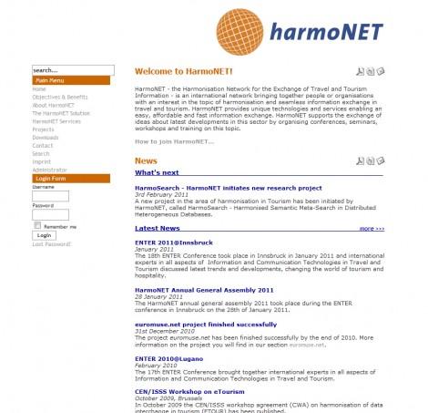 Harmonet Website