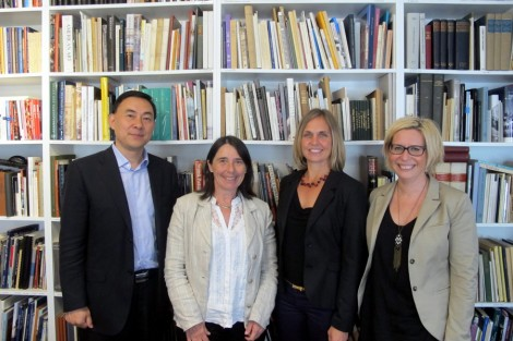 Zhao Feng (CEO of Amber Digital Solutions), Antonella Fresa (Director of Promoter srl), Åsa Marnell (Head of collections of the Hallwyl museum) and Karin Nilsson (Head of digital resources of the Hallwyl museum).