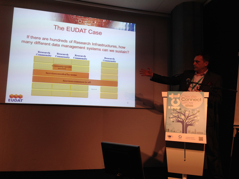 Norbert Meyer (Poznan Supercomputing and Networking Center) took a presentation of the EUDAT project