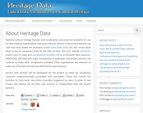heritage data