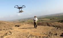 Peruvian archaeologist Luis Jaime Castillo flies a drone over Cerro Chepen