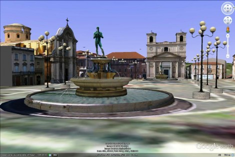L'Aquila, Piazza Duomo (in Google Earth)