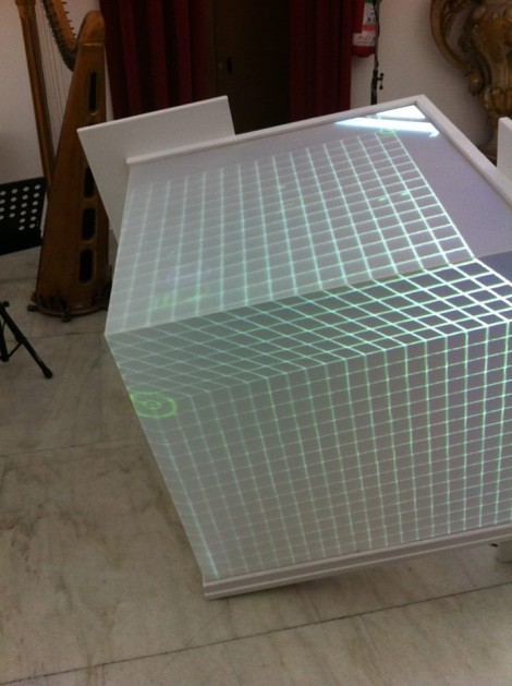 aligning the 3D grid on the cube
