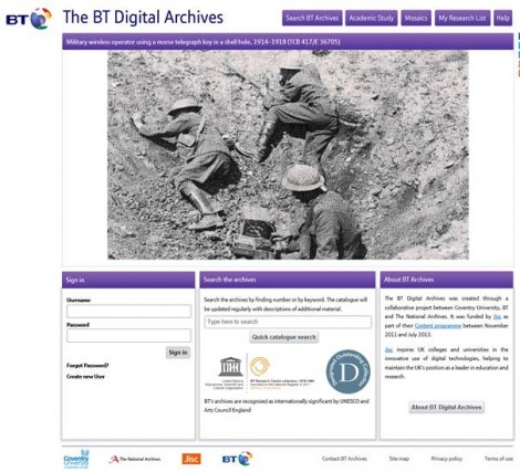 BT digital archive