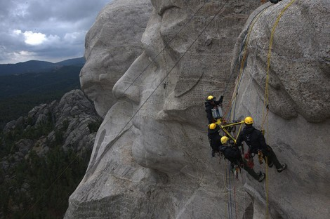 CyArk at work, scanning Mount Rushmore