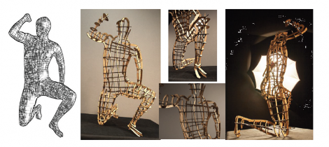 The 'kneeling human' model - 140 slices