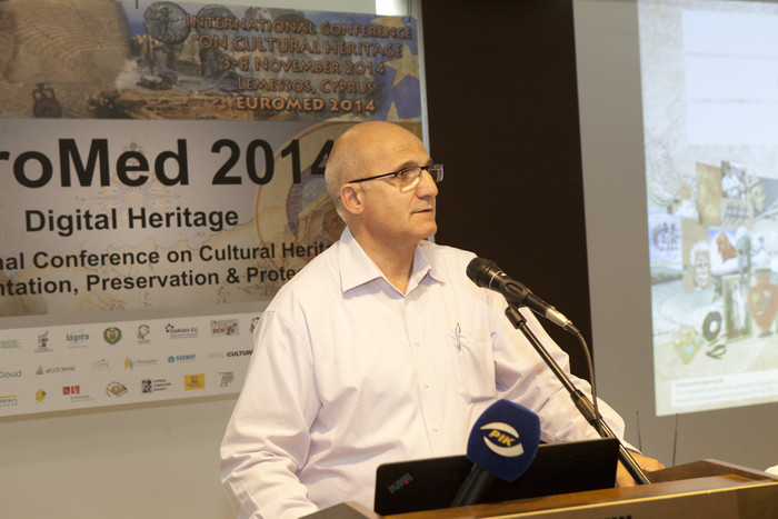 Dr. Marinos Ioannides opening the event
