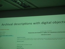 Archival descriptions with digital objects - email