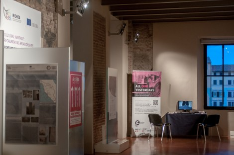 The desk for the virtual exhibition