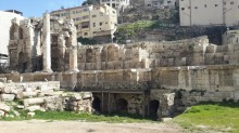 The Nimphaeum in the middle of Amman