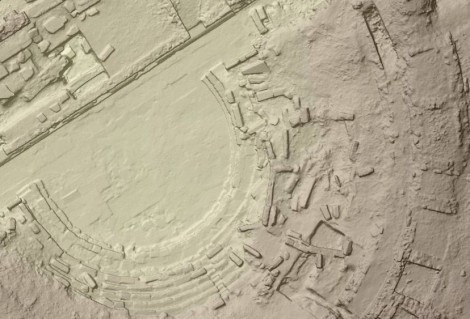 2cm DSM, theatre© photo: GeoInformatix, DroneSense & Università di Macerata