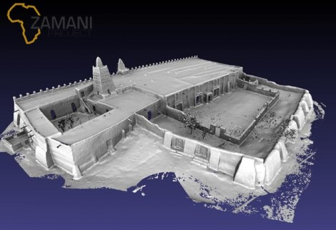 3D model of the Djinguereber  Mosque, Timbuktu