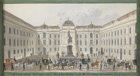 Balthasar Wigand Josephsplatz 1835, Wikimedia Commons (public domain)