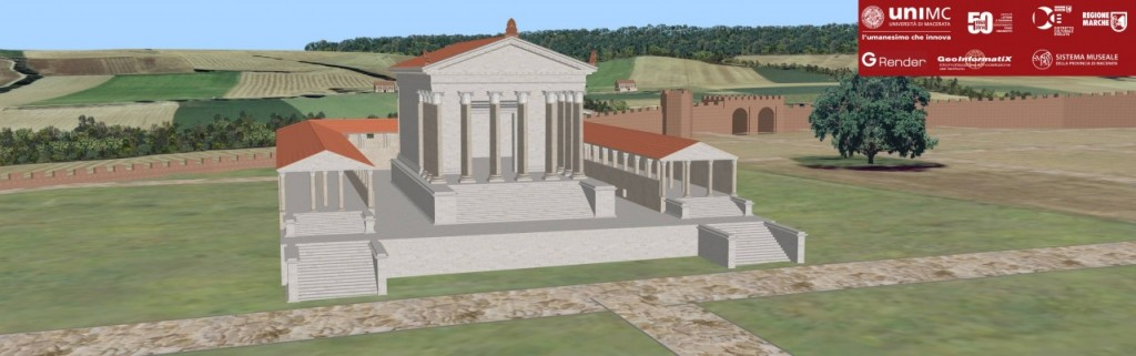 3D reconstruction of the temple complex, cryptoporticus of Urbs Salvia