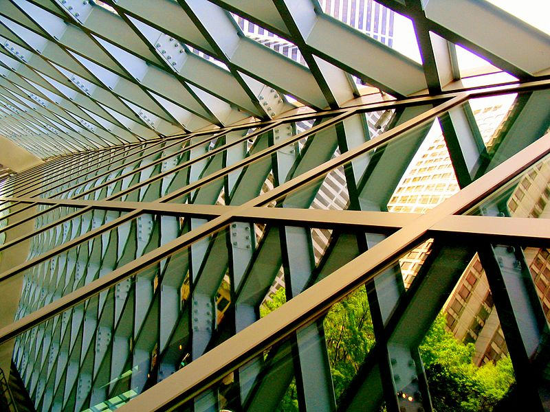 Seattle Library, internal framework (Wikimedia commons)
