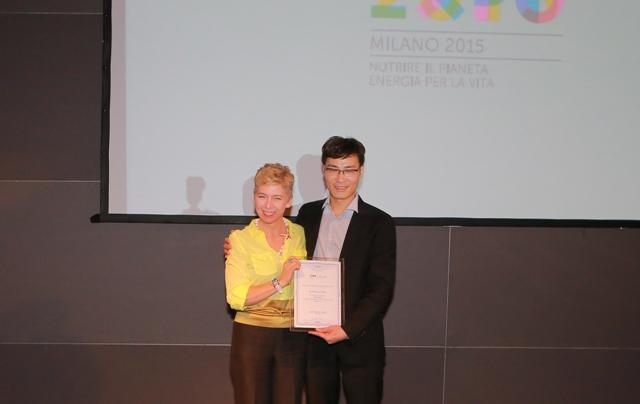 Irene Pivetti e Tinggui Chen, president of Wetherm