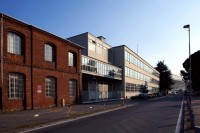 Olivetti building complex, along Via Jervis in Ivrea (from the first red-brick factory to the first and second extension of the Olivetti I.C.O. plants). Courtesy of Francesco Mattuzzi and Fondazione Adriano Olivetti