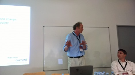 Neil Forbes, from Coventry University, presented the RICHES project. Neil Forbes it the Project Coordinator.