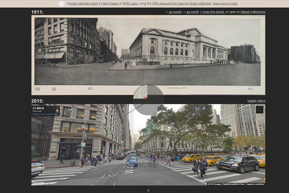 Street view NY Fifth Avenue: 1911/2015 comparison