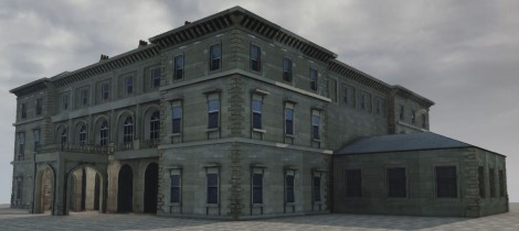 Paragon Hotel, digital 3D model with textures